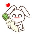 默默兔瘦腿表情包官方版