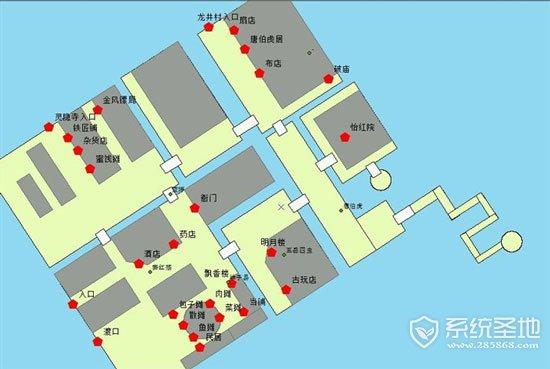 侠客风云传杭州地图