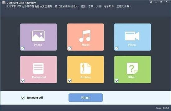 7thShare Data Recovery(数据恢复软件)中文免费版 v1.3.1.6