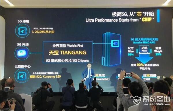 """华为""""天罡""""发布!业内首款5G基站核心芯片"""