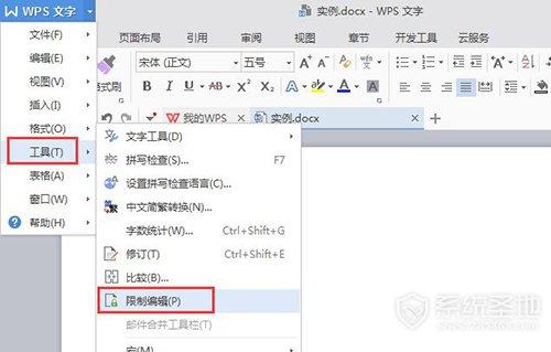 wps怎么给文档设置密码4